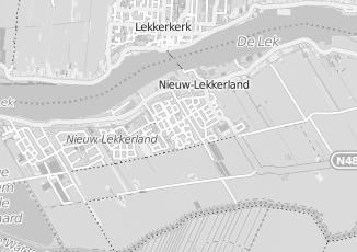 Kaartweergave van Hol in Nieuw Lekkerland