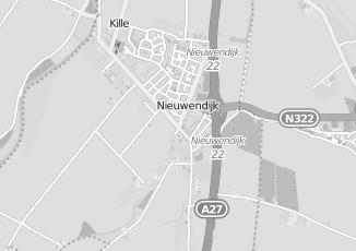 Kaartweergave van Bouwhuis in Nieuwendijk