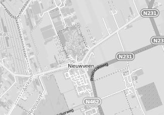 Kaartweergave van Albert heijn in Nieuwveen