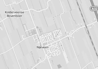Kaartweergave van Milieustraat in Nijeveen