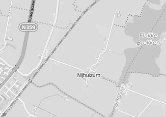Kaartweergave van Bad in beeld in Nijhuizum