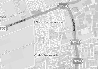 Kaartweergave van Barten in Noord Scharwoude