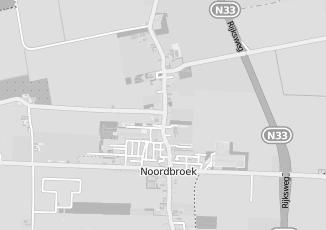 Kaartweergave van Bakker in Noordbroek