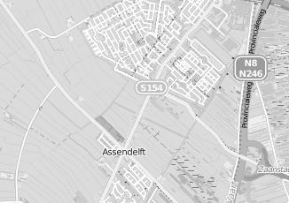 Kaartweergave van Bank in Noordeinde Noord Holland