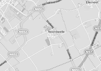 Kaartweergave van Pijl in Noordwelle