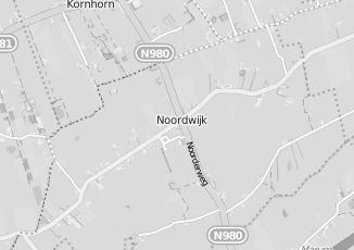 Kaartweergave van Albert heijn in Noordwijk Groningen