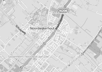 Kaartweergave van Kerkvliet in Noordwijkerhout