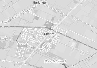 Kaartweergave van Detailhandel in Obdam
