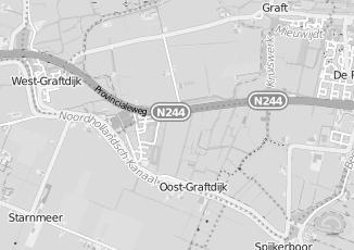 Kaartweergave van Projectbureau in Oost Graftdijk