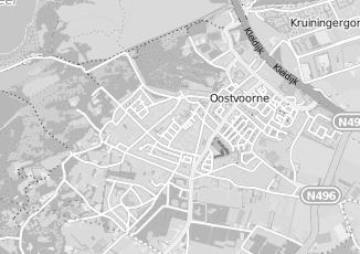 Kaartweergave van Poldervaart in Oostvoorne