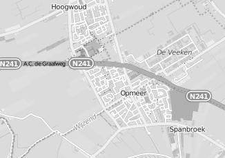 Kaartweergave van Koning in Opmeer