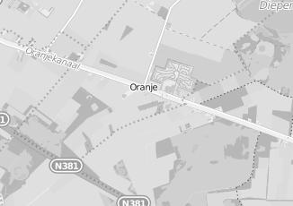Kaartweergave van Dellen in Oranje