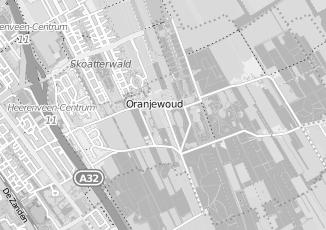 Kaartweergave van Milieustraat in Oranjewoud