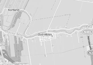 Kaartweergave van Albert heijn in Oud Alblas