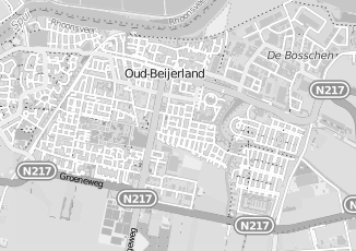 Kaartweergave van Maas in Oud Beijerland