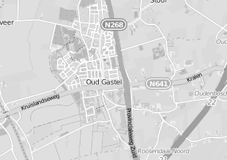 Kaartweergave van J kannekens in Oud Gastel