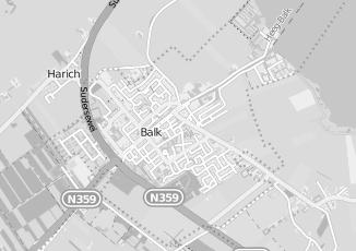 Kaartweergave van Bekema in Oudega Gemeente Sudwest Fryslan Friesland