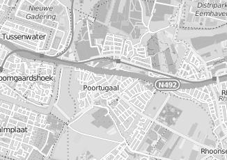 Kaartweergave van Lange in Poortugaal