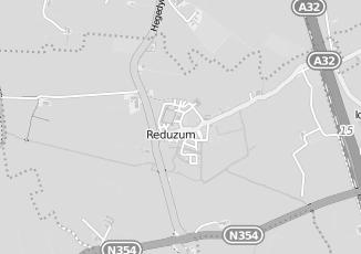 Kaartweergave van Hofstra in Reduzum