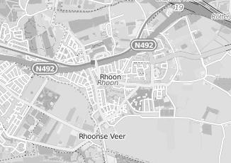 Kaartweergave van Maas in Rhoon