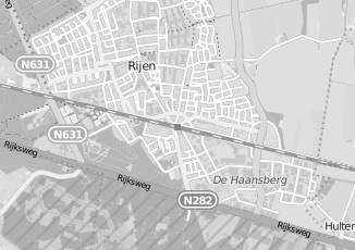 Kaartweergave van Pijnenburg in Rijen