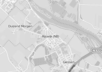 Kaartweergave van Giessen in Rijswijk Noord Brabant