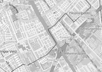 Kaartweergave van Oudshoorn in Rijswijk Zuid Holland