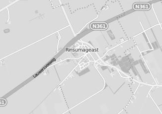 Kaartweergave van Loonbedrijf in Rinsumageast