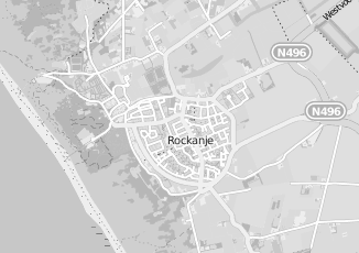 Kaartweergave van Albert heijn in Rockanje