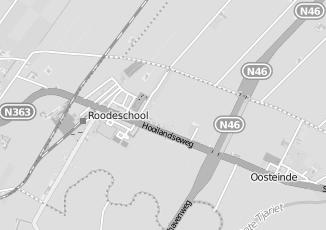 Kaartweergave van Bos in Roodeschool