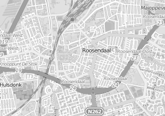 Kaartweergave van Bruin in Roosendaal