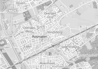 Kaartweergave van Albers in Rosmalen