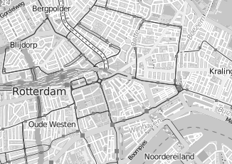 Kaartweergave van Rechtbank in Rotterdam