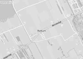 Kaartweergave van Boersma in Rottum Friesland