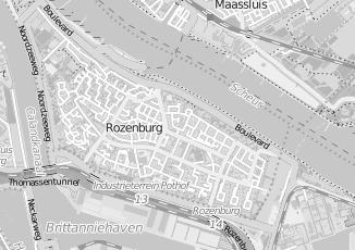Kaartweergave van Zonnebank in Rozenburg Zuid Holland