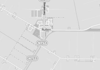 Kaartweergave van Albert heijn in Rutten