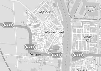 Kaartweergave van Baan in S Gravendeel
