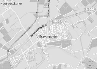 Kaartweergave van Albert heijn in S Gravenpolder