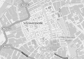 Kaartweergave van Hendriks in S Gravenzande
