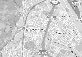 Kaartweergave van Hulst in Santpoort Noord
