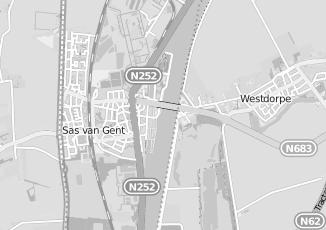 Kaartweergave van Maas in Sas Van Gent