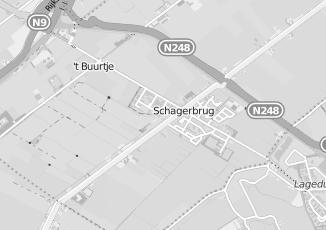Kaartweergave van Bakker in Schagerbrug