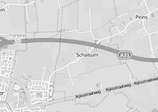 Kaartweergave van Groothandel in meubels in Schalsum
