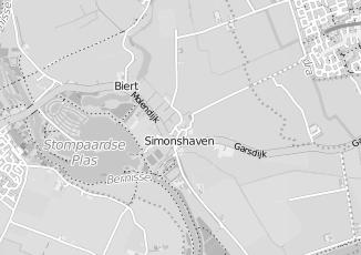 Kaartweergave van Albert heijn in Simonshaven