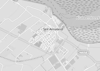 Kaartweergave van Moerland in Sint Annaland