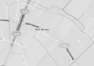Kaartweergave van B slager in Sint Annen
