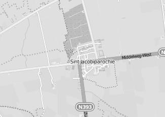 Kaartweergave van Dijkstra in Sint Jacobiparochie