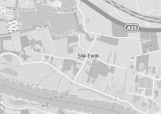 Kaartweergave van Albert heijn in Slijk Ewijk