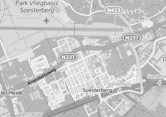 Kaartweergave van Centraal station in Soesterberg