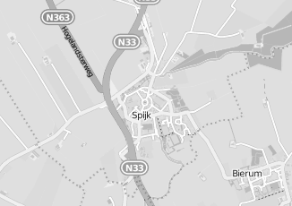 Kaartweergave van Bakker in Spijk Groningen